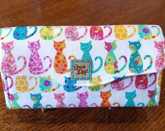 Necessary Clutch Wallet - Calico Cats