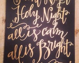 Silent Night Handwritten Canvas