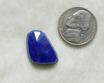 1pc Natural LAPIS LAZULI UNEVEN rosecut nice quality Uneven lapis lazuli fancy rosecut gemstone best discount deal  blue lapis lazuli