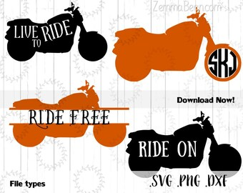 motorcycle svg - Motorcycle bundle Cutting file. .SVG, .PNG .DXF Silhouette studio-cutting file- commercial use