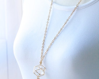 Geometric Gold Eyeglass Lanyard, Women's Lanyard, Eyeglass Holder Necklace, Eyeglass Loop, Gold Eyeglass Chain, Glasses Chain, For Her