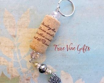 Dreaming Tree Wine Cork Keychain