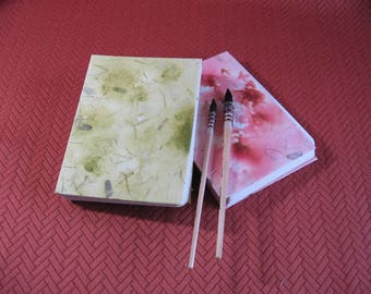 Light Green & Light Burgundy Watercolor Journals.  Items #3008 and #3009.