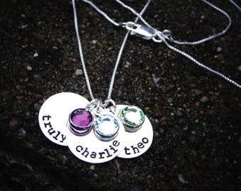 Mother's Day Kids Names Necklace - Mom Birthstone Necklace - Grandma Birthstone Necklace - Name Necklace - Gift for Mom from Kids
