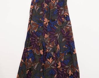 Vintage 80's Tropical Maxi Skirt