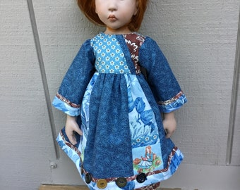 """Little girl reading a book, pocket,   21"""" doll clothes, Zwergnase,   Ooak"""