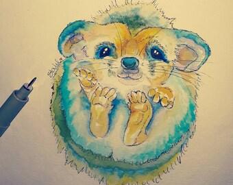 Hedgehog Framed Art Print, Hedgehog Art, Hedgehog Watercolor, Hedgehog Watercolor Print, Hedgehog Wall Art, Hedgehog Wall Decor, Hedgehog