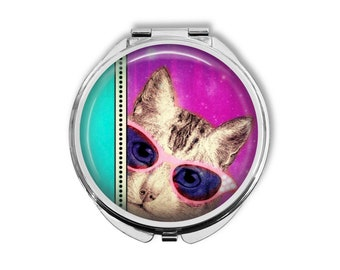 Cat's on Catnip Compact Mirror Pocket Mirror Large
