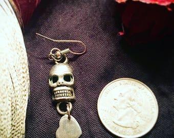 skull dangle earring
