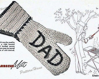 Dad Barbecue Mitt Crochet Pattern Instant Download
