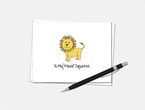 """To My """"Mane"""" Squeeze - Valentine's Day Card"""