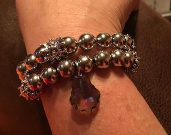 Shimmering Silver Bracelet Set
