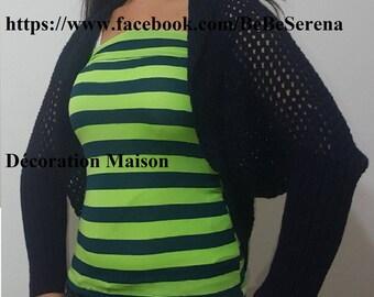 short vest for women in crochet