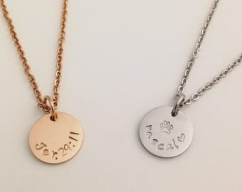 Personalized Charm Necklace - Best Friend Gift - Bible Verse Necklace - Pet Lover Necklace - Personalized Necklace - Rose Gold Necklace