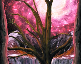 Ash Tree- Digital Painting Print