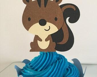 Squirrel Cupcake Topper