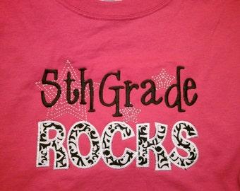 5th Grade Rocks shirt Fifth Grade Rocks Teacher shirt School shirt