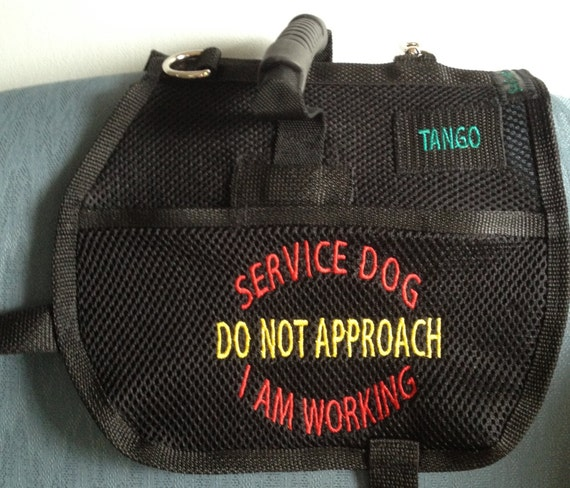 Service Dog Vest Service Dog In Training With Handle 2