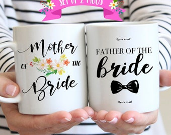 Parents of the Bride Mug Set, Father of the Bride Gifts from Groom, Wedding Mug
