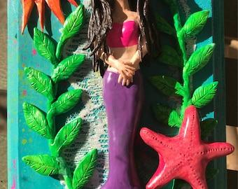 Under the Sea themed Mixed Media Wall Art