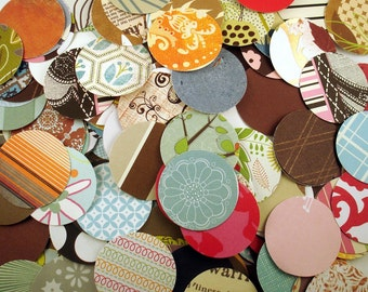 """Paper Die Cut Circles    1 1/2"""" circles   Funky Mix Variety Pack 200 Pieces"""