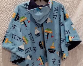 Reversible Baby-Toddler Carseat Poncho Blanket