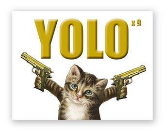 Yolo Cat Card