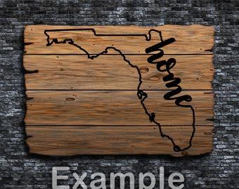 Florida Home ai  eps  jpg  png  and svg Clipart, Vinyl, Stencil - Cricut - Silhouette Cameo