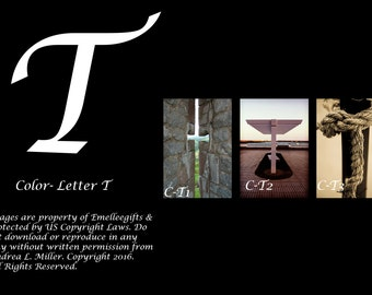 "Alphabet Letter {T} Art Photography~ 4x6 ""Color"" Digital Print"