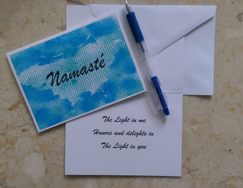 Namaste Yoga Greeting Card Namaste Card Namaste Greeting
