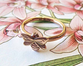 Rose Gold Bee Ring, rose gold jewellery, bee ring, bee jewellery