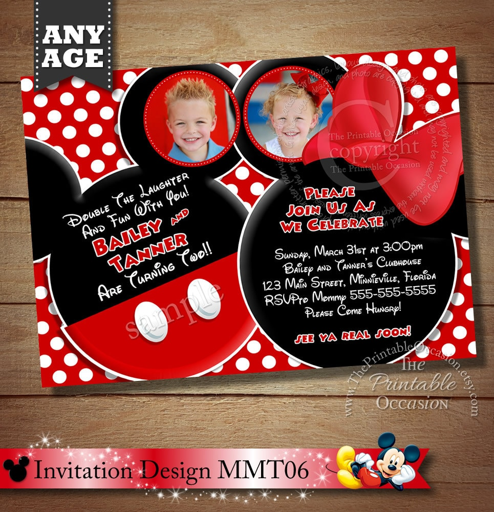 mickey and minnie invitations - Vatoz.atozdevelopment.co