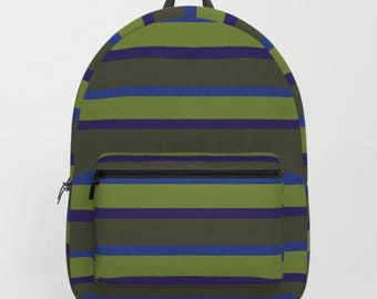 Muted Stripes Backpack