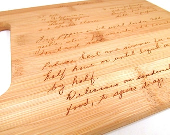 Add a Second Recipe to your Handwritten Engraved Cutting Board