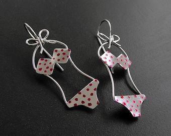 Unusual earrings, quirky earrings, silver earrings, sterling silver earrings, cute earrings
