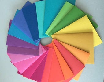 50 3x4 BRIGHT Color Journals Notebook 20 or 40 pages