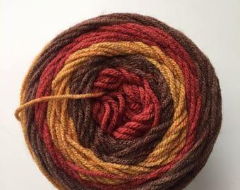 Premier Yarns Sweet Roll in Root Beer Pop, Medium Worsted Weight Yarn, Variegated Yarn, Color Gradient Yarn, Fall Color Yarn, Acrylic Yarn