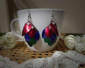Little Mermaid Inspired Scalemaille Earrings - Small Scales