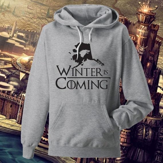 Winter is Coming State of ALASKA Game of Thrones Hoodie Game of Thrones Gift qGteL9JKk