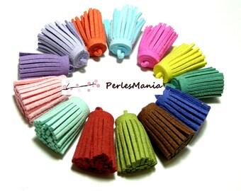4 PomPoms passementiere charm suede multicolor 30 mm
