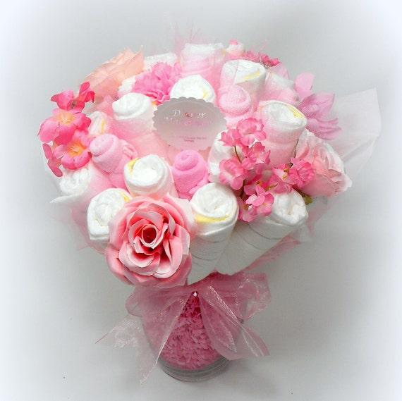 Baby Shower Centerpiece Diaper Bouquet Flower Bouquet