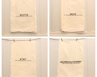 Hashtag Tea Towels