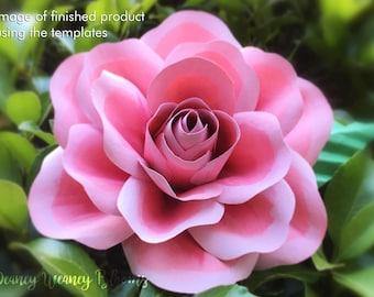 Paper flower Rose SVG and PDF template, bouquet size DIY Digital paper flower pattern Downloadable Cricut Cameo Silhouette cut file wedding
