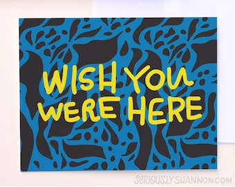 Wish You Were Here Friendship Card, Miss You Card, Distance Card, Long Distance Love, Best Friend Card, A2 greeting card