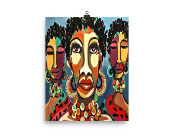 African Goddesses Photo paper poster