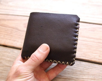 Compact Deerskin Leather Bi-fold Wallet
