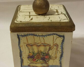 Small Vintage Hand-painted Box