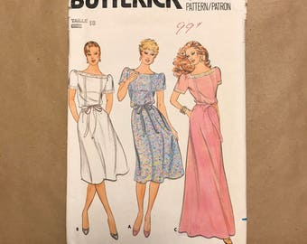 vintage 1980s Sewing pattern - Butterick 4277 - Dress