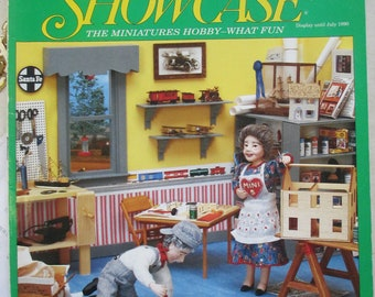 Dollhouse Miniatures Magazine Back issue Spring 1990  issue  used good condition.