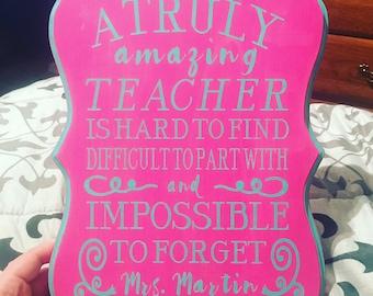 Teacher Appreciation Sign